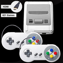 Retro Mini Video Game Console Support HDMI TV Out Built-in 621 Classic Games for SNESED Format