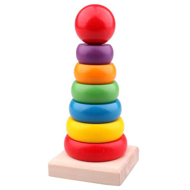 Rainbow Stacking Ring Tower