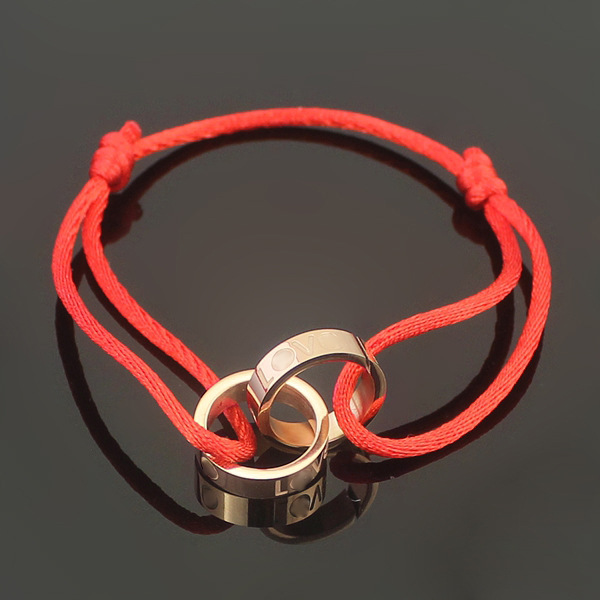 Hot sell stainless steel rope carter love bracelet double circle rose gold silver love bracelet for women men fashion jewelry