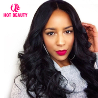 Hot Beauty Hair 360 Lace Frontal Wig Pre Plucked with Baby Hair Brazilian Loose Wave Natural Color 14 24 Inch Remy Human Hair