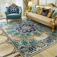 AOVOLL Carpet Bedroom Ethnic Style American Country Retro Light Luxury Mats For Living Room Carpet Nordic Bedroom Carpet And Rug