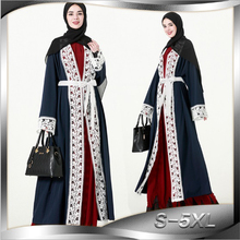 Muslim Abaya Lace Maxi Dress Cardigan Kimono Musulmane Arab Dubai Middle East Islamic Clothing Hollow Out Long Robe Gowns Tunic