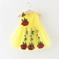 2017 Spring New Children S Clothing Girl Flowers Bloom Summer Flowers On The Dress