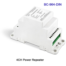 BC-964-DIN New DIN Rail DC5V 12V 24V input Led Power Repeater Amplifier 3CH/4CH/5CH output Signal repeater