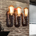 Vintage Loft Steampunk Wall Lamp E27 Lampshade Industrial Water Pipe Wall Light Bedside Wall Sconce Light Fixture luminaria