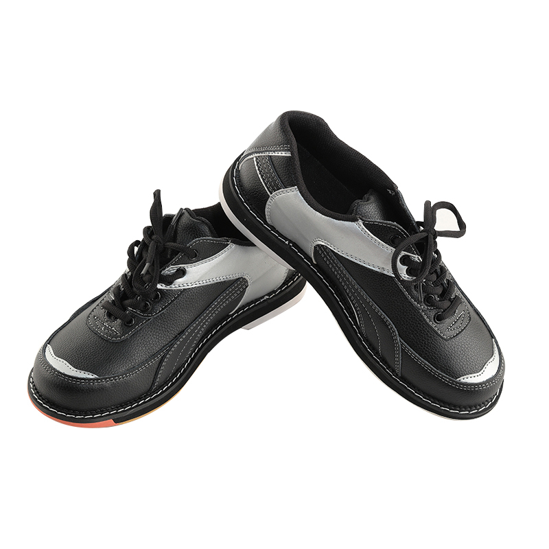 Leather Bowling Shoes For Men Professional Fitness Sports Shoes Bowling Supplies Skidproof Training Shoes Sneakers D0581