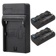 2×2600 мАч NP F550 NP F570 Перезаряжаемые видео Камера Batteria пакет для Sony NP-F550 NP-F570 цифровой Батарея Аккумуляторы + Зарядное устройство