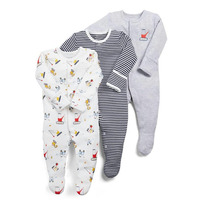 3pcs/lot Baby Girl Romper Sleepsuit Flower Baby Rompers Infant Baby Clothes Long Sleeve Newborn Jumpsuits Baby Pajamas