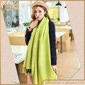 Зеленый шарф удлиненная форма пашмины acrlic шарфы и обертывания платок для женщин бесплатная доставка
