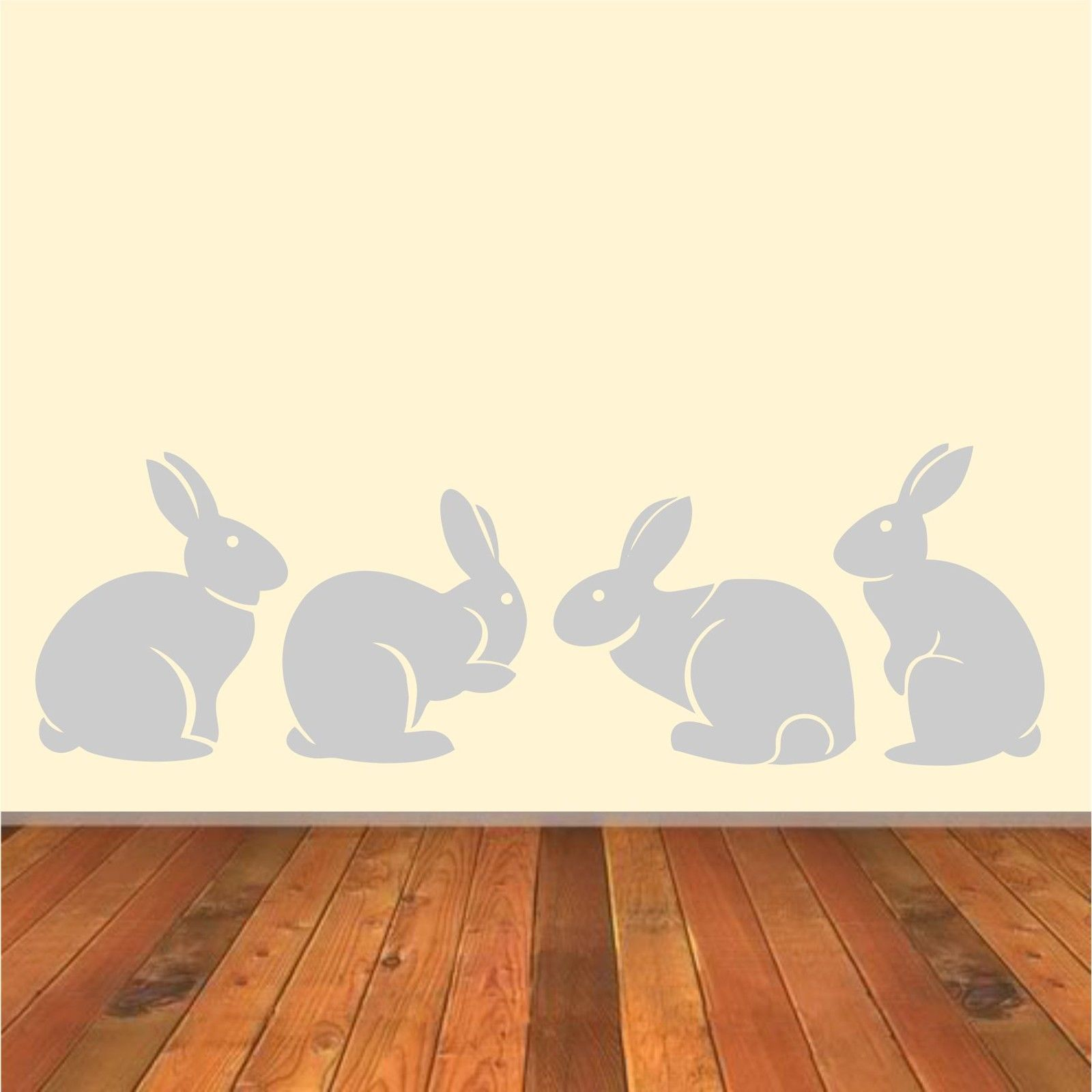 A007 Cute Bunny Rabbits Wall Sticker Baby Nursery Rabbitits Wall - Տնային դեկոր - Լուսանկար 3