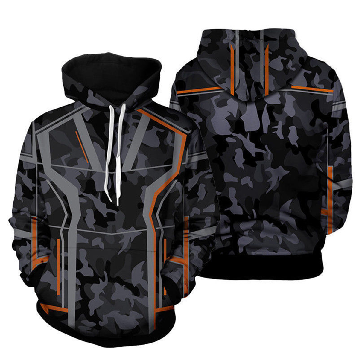Avengers Infinity War Costume Iron Man Tony Stark Camouflage Hoodie Pullovers