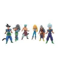 Chanycore 14 CM Nieuwe 6 stks/set Super Saiyan Dragon Ball Z Fly vaarwel Goku Vegeta ANDROID #16 Trunks Action Figure Kids speelgoed