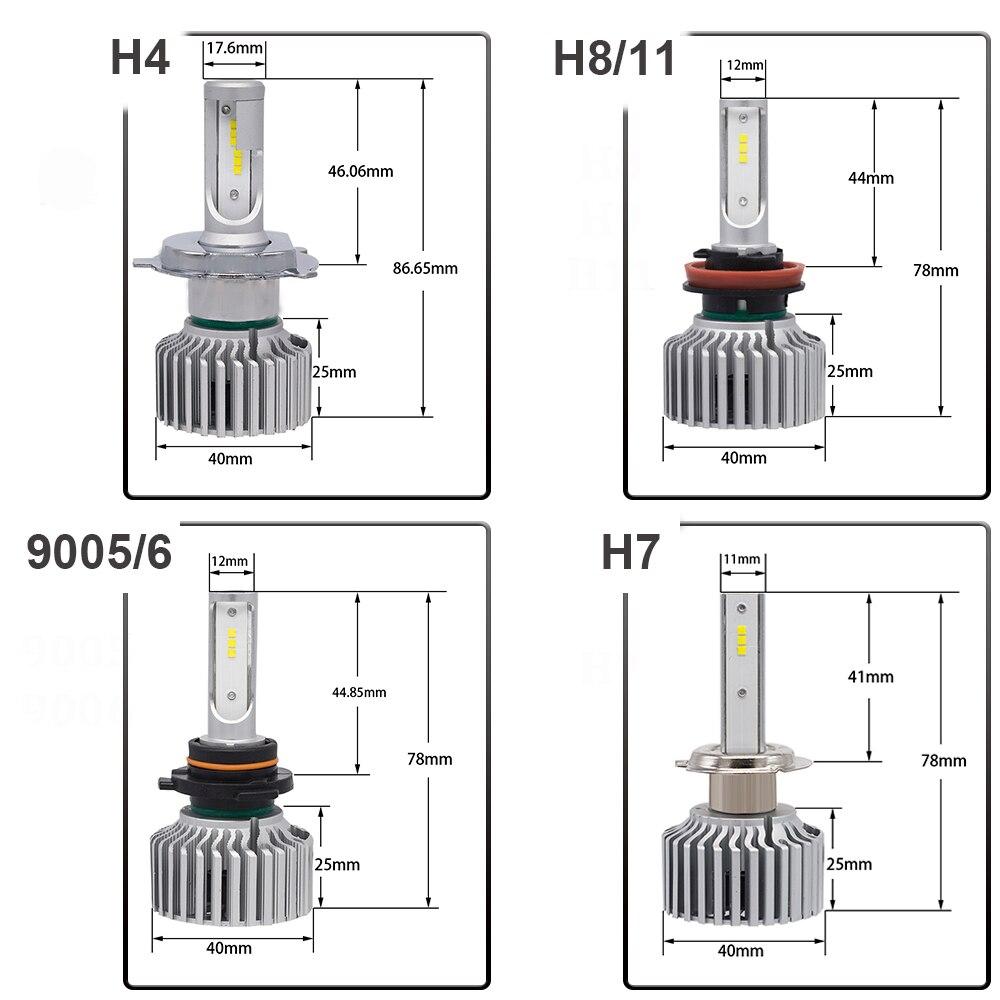 YHKOMS ավտոմեքենայի լուսարձակող H4 H7 9005 / - Ավտոմեքենայի լույսեր - Լուսանկար 6