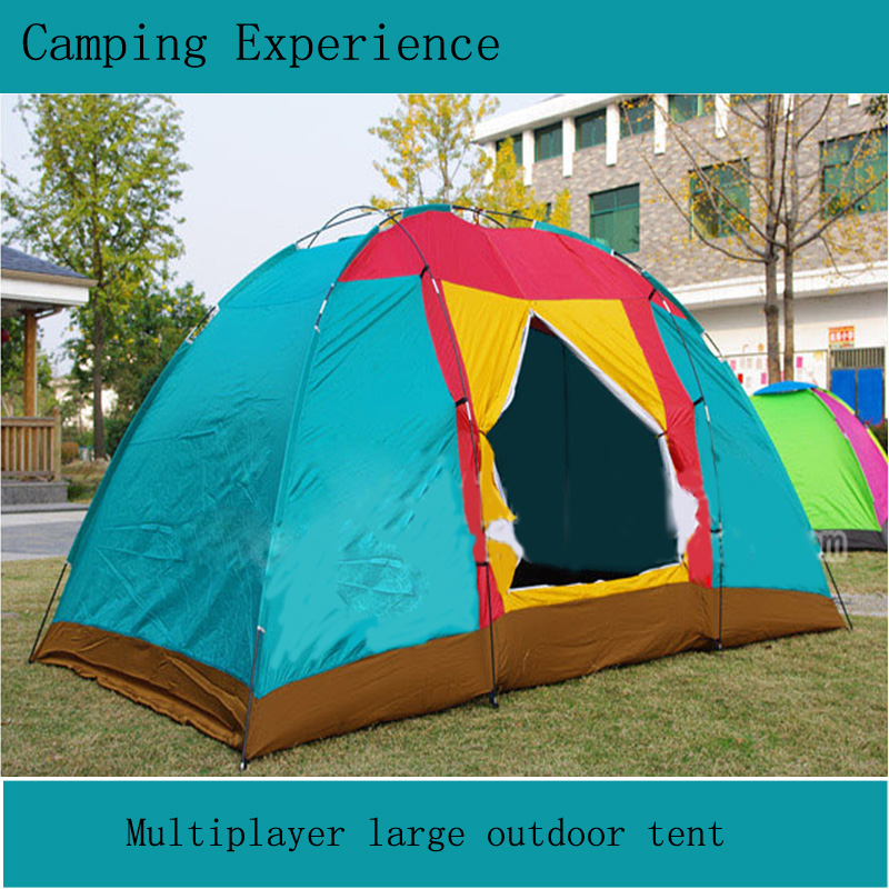 Multiplayer large outdoor tent six - eight people tent camping tourism and leisure tents