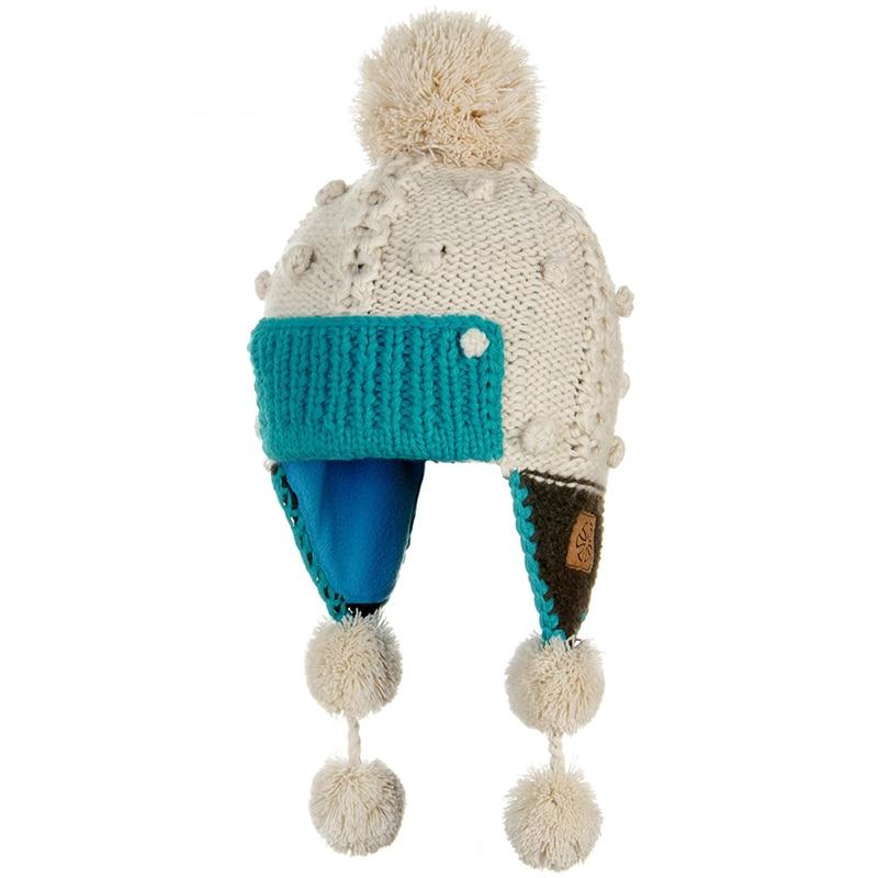 2018 winter new outdoor children's knit hat fleece lining windproof warm children's hat boys and girls outdoor ski sports cap