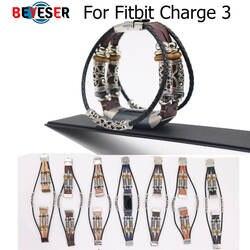 Высокое качество Замена кожаный браслет группа браслет для ремня для Fitbit Charge 3 ремешки наручных часов Correas де reloj bandje