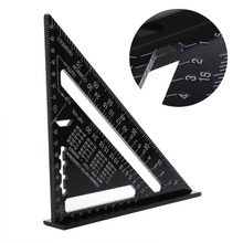 7 Inch Metric Aluminum Alloy Triangle Ruler Speed Square Roofing Angle Protractor for DIY Artists Woodworking Measuring tools