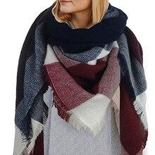 winter scarf 2016 font b Tartan b font Scarf women desigual Plaid Scarf cuadros New Designer