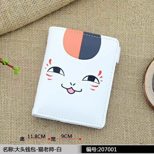 Marvel Anime Wallet with Cion Pouch No Game No Life/Totoro/Sailor Moon Cat Purse Dry matter Japanese PU Leather Carteira Kids Wallets