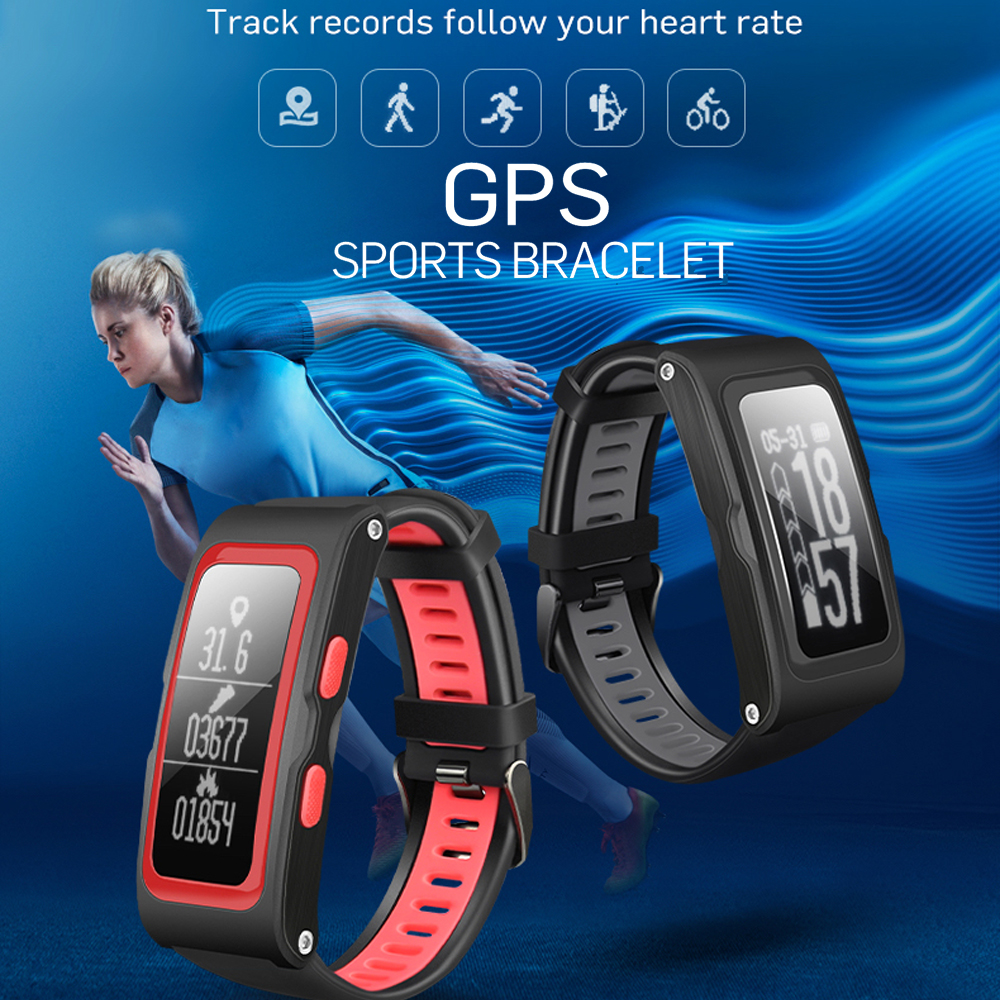 Lemado T28 GPS Track Smart Bracelet Dynamic Heart Rate Monitor Real time Sport Trail Intelligent Reminder
