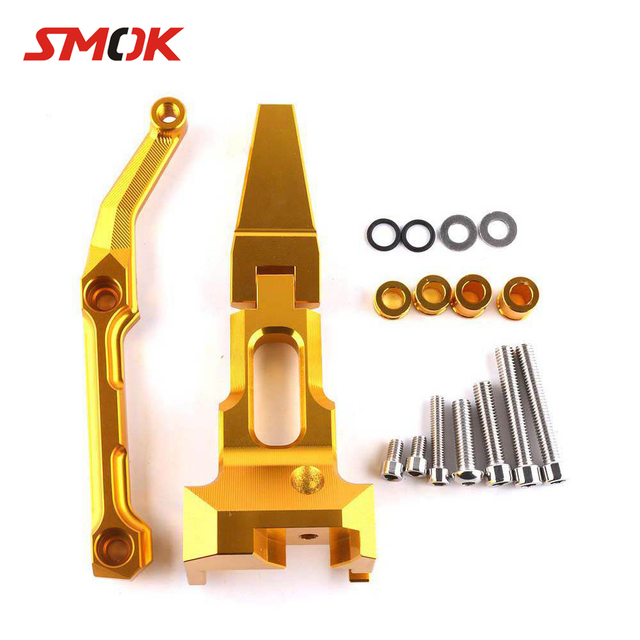 SMOK Motorcycle CNC Aluminum Adjustable Steering Damper Stabilizer Mounting Kit For Yamaha MT-09 MT 09 MT09 Tracer 2015-2017