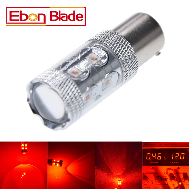 1Pcs 1157 LED Car Brake Bulb BAY15D P21/5W High Power XBD 50W RED Stop Lamp Lighting Source Back-up Parking Light 12V 24V