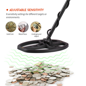 Image 4 - Professional Metal Finder High Sensitivity Underground Metal Detector Gold Digger Jewelry Hunting Treasure Search with Earphone