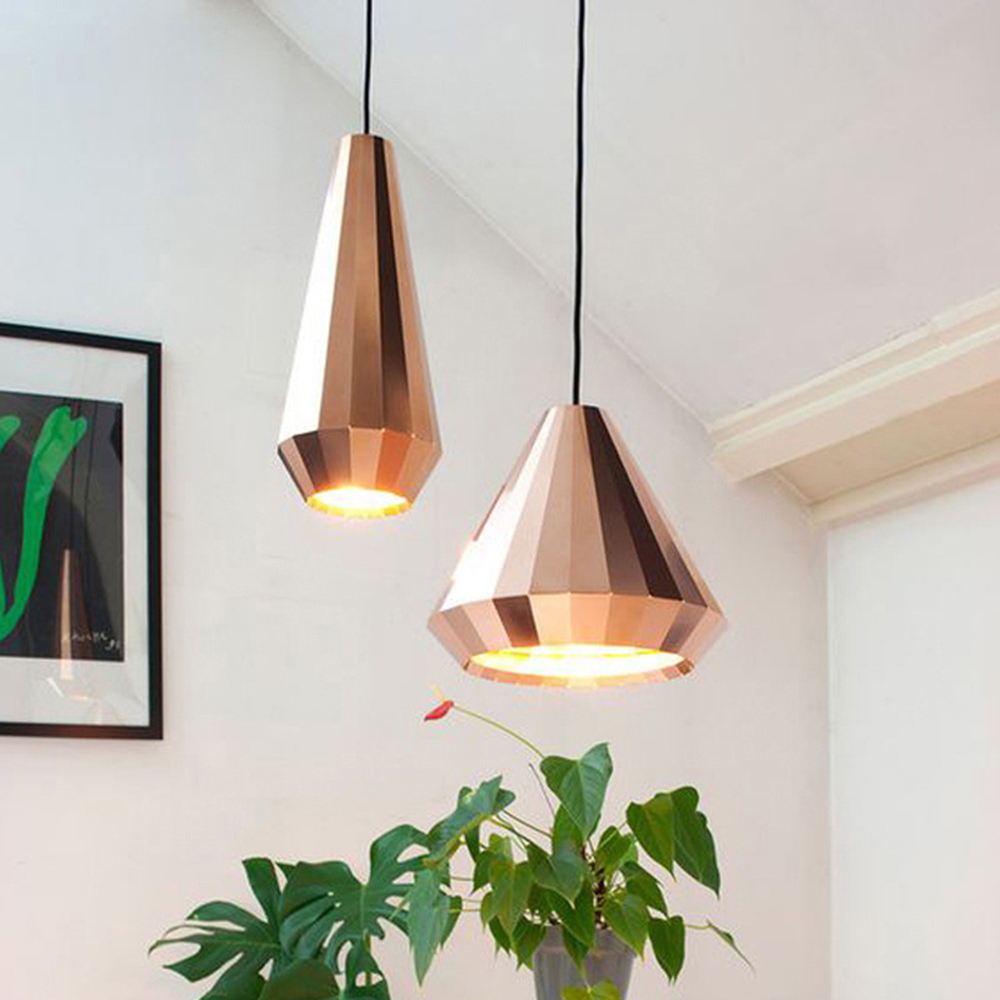 Nordique moderne Designer Rose or verre pendentif lumière suspension lampe pour Hall Loft décoration chambre cuisine salle à manger salon