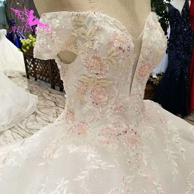 AIJINGYU Wedding Dresses Arab Emirates Sparkling Long
