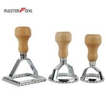 Набор из 3 пельменей набор штампов классический нож для равиоли производитель с деревянной ручкой паста Форма резак инструмент пельмень штамп