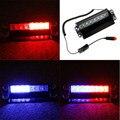 New Car Styling 8 LED Red/Blue Car Polícia Strobe Flash Light Traço de Emergência 3 Piscando Luzes de Nevoeiro