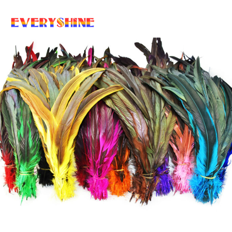 240pcs Dyed Colorful Diy Turkey Feather Hair Extension Pheasant