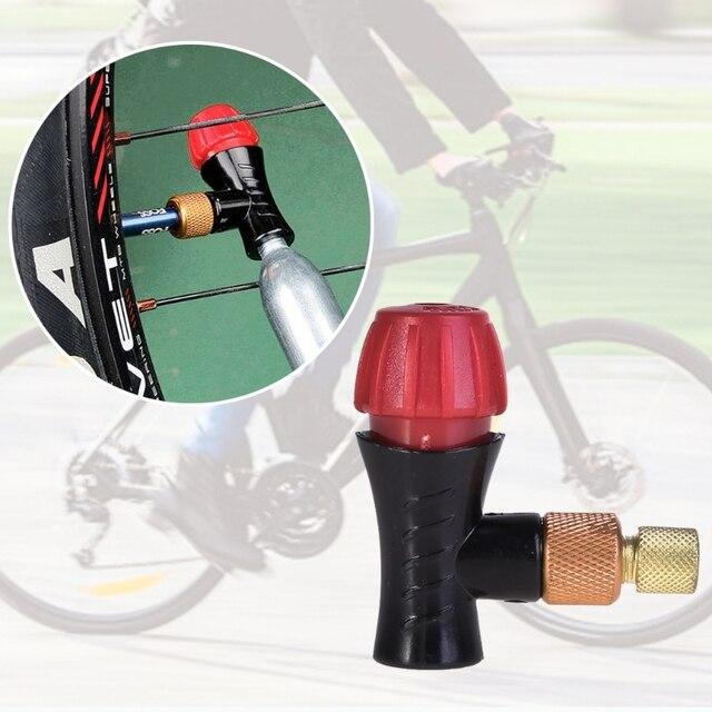 Bicycle Inflator Head Compatible For Presta Schrader Valve CO2 Pump Accessories
