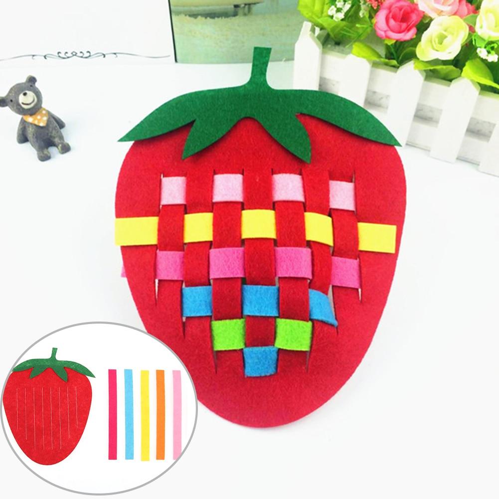 Creative Baby Kids Weave Knitting Toy DIY Plaid Fruit Strawberry Pineapple Crab Early Educatioanal Handwork Handcraft