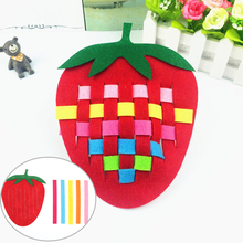 Creative Baby Kids Weave Knitting Toy DIY Plaid Fruit Strawberry Pineapple Crab Early Educatioanal Handwork Handcraft Puzzle Toy