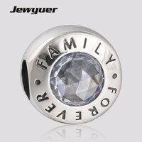 Presente do dia das mães de Família Forever encantos 925 Prata fina jóias Fit bead Charme DIY jóias Pulseira presente para a mãe BE355