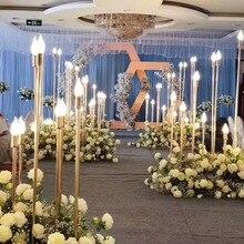 Великолепная стойка с пятью головками для свадебных и свадебных мероприятий, вечерние украшения для дома