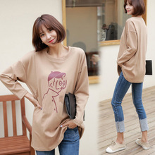 OkayMom Maternity Nursing Top Clothes Pregnancy Nurser Wear t shirt Clothing Korean Loose Breastfeeding Hoodies For Pregnant