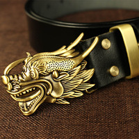 Chines ancient style Cosplay dragon pattern leather belt Halloween garment sashes Cosplay Accessories For Fancy Dress Belt