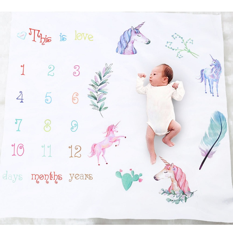 Cartoon Pattern Infant Baby Milestone Photo Props Background Blankets Play Mats Backdrop Cloth Calendar Photo Accessories Cartoon Pattern Infant Baby Milestone Photo Props Background Blankets Play Mats Backdrop Cloth Calendar Photo Accessories Nordic