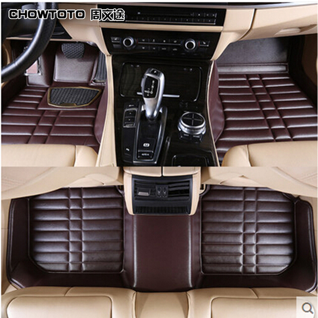 CHOWTOTO AA Special Floor Mats For Jeep Patriot Non Slip Wear Resisting  Leather Carpet