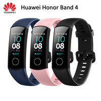 In Stock Huawei Honor Band 4 Standard Smart Wristband Bracelet 0.95 Color Touchscreen Waterproof Swim Heart Rate Sleep Tracker
