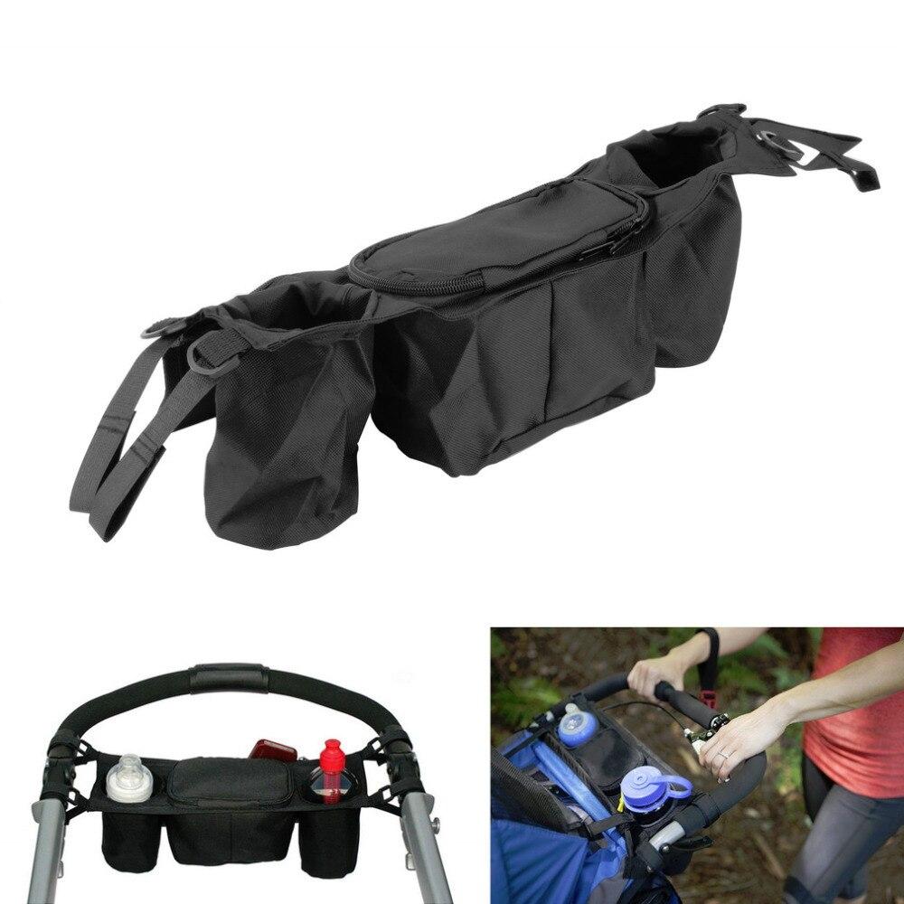 100% New 1pcs Cup bag Baby Stroller Organizer Baby Carriage Pram Buggy Cart carrinho de  ...