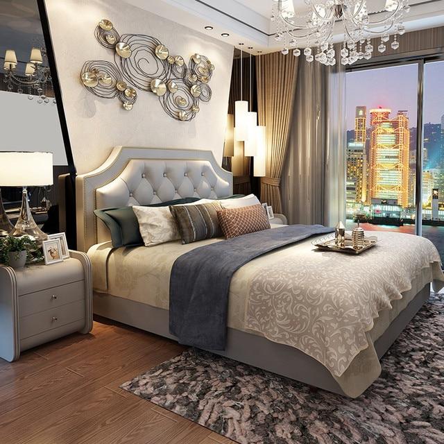 180X200 cm Amerikaanse ontwerp stof slapen zacht bed kingsize ...