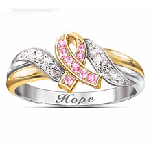 Hope Ring Silver Gold Color Crystal Rings for Women Fine Jewellery Accessories Engagement Wedding Love Ring anillos D30 vnox three tone mix color rings for women love hope faith wedding band ring