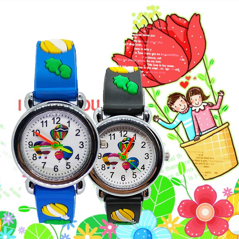 Interesting Outdoor Sport Hot Air Balloon Watch For Children Boys Watches For Kids Girls Student Clock Child Quartz Wristwatches
