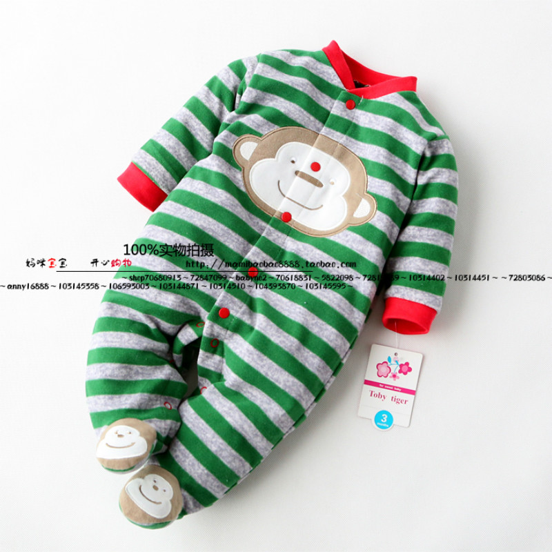 2017 new baby boy jumpsuit style polar fleece fabric single tier romper clothing  baby  long-sleeve micro-polar fleece jumpsuit single boy