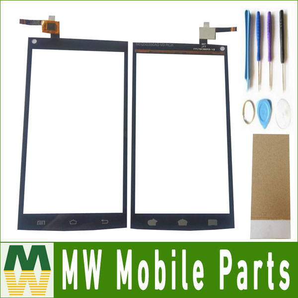 1PC/ Lot High Quality For Qumo Quest 510 Touch screen Touch Plane Digitizer Black Color with tools+tape