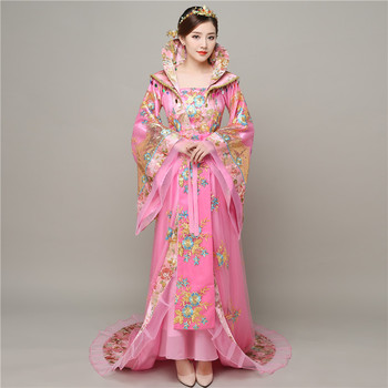 Traditional Princess Ancient China Royal Women Dress Queen Stage Hanfu Tang Dynasty Fairy Long Tailed Costume Empress Clothing you zi yin tang dynasty prince and empress costume parent child costume sets mother son stage clothing