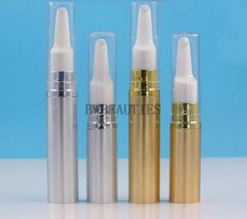 100Pcs/Lot 5ml/10ml gold silver eye cream vacuum flask AS plastic Airless Pump Eye cream bottle Cream emulsion bottle